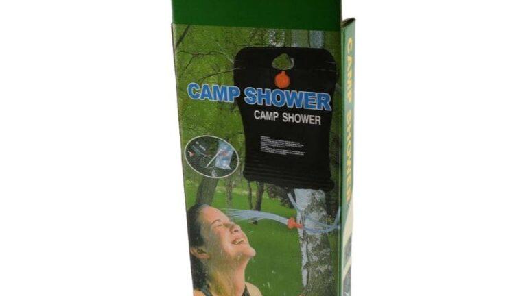 A kemping zuhany megkönnyíti a dolgunkat